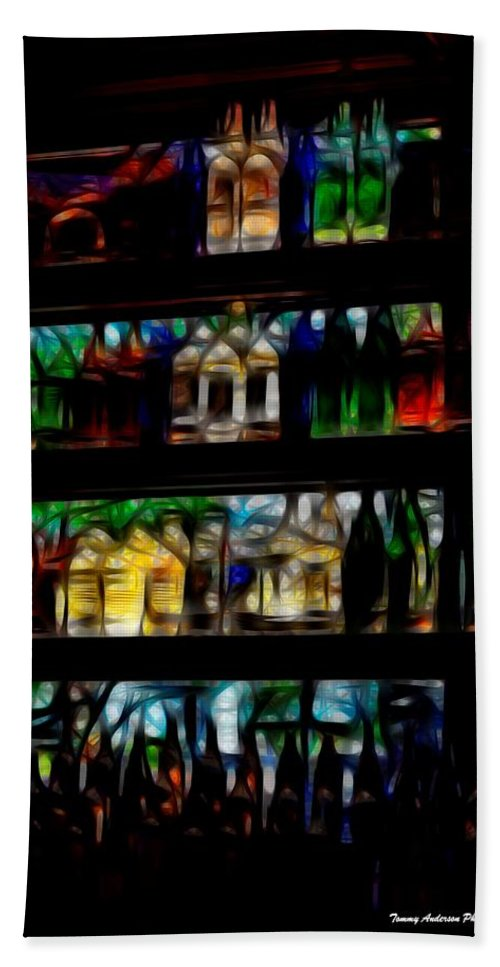 Bottles Hand Towel featuring the photograph Rancho Nightlife by Tommy Anderson