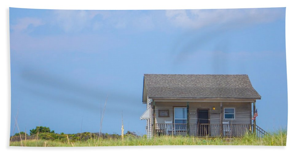 Long Point Cabins Hand Towel featuring the photograph Ranger Cabin by Paula OMalley