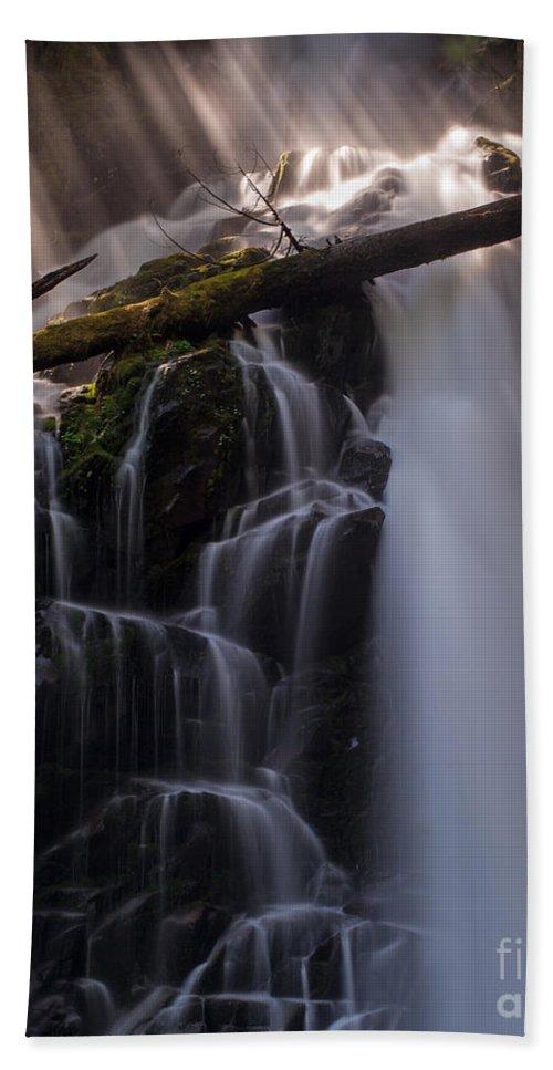 Ranger Falls Bath Sheet featuring the photograph Ranger Falls Sunbeams by Mike Reid