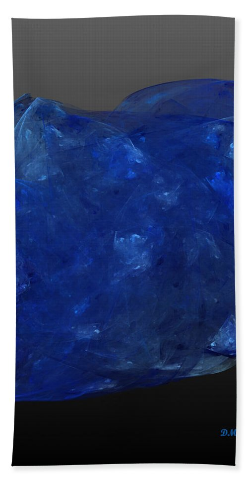 Tanzanite Hand Towel featuring the digital art Raw Tanzanite by Diane Parnell