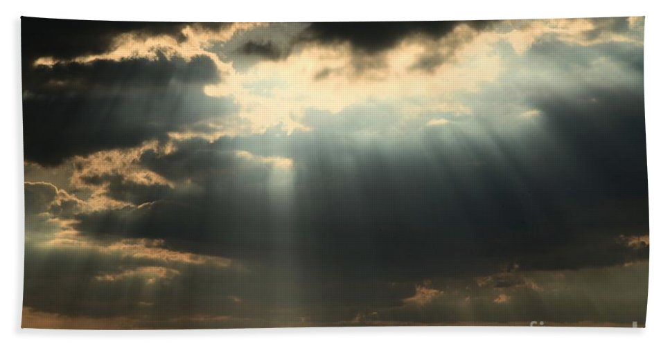 Obx Hand Towel featuring the photograph Rays From Heaven by Adam Jewell