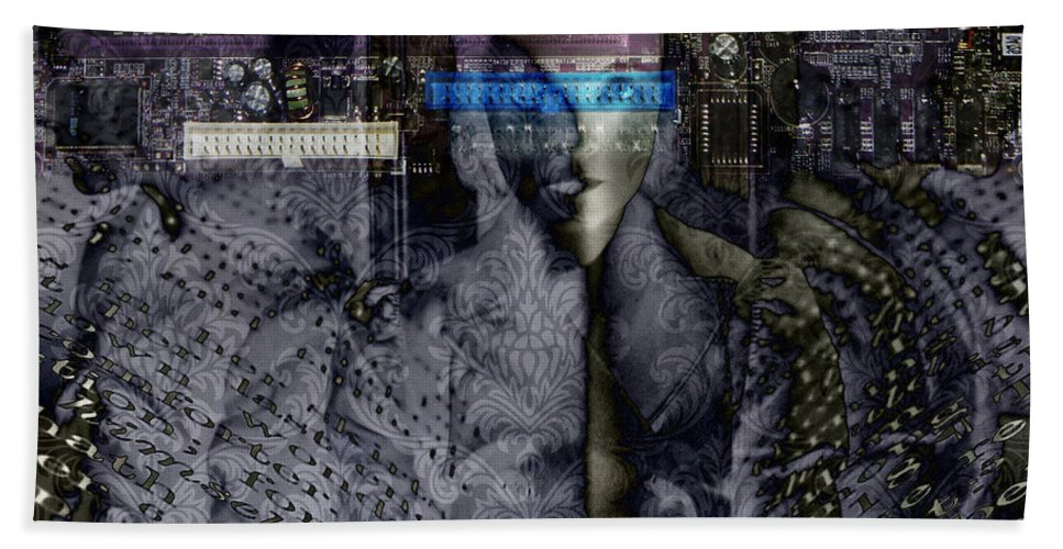 Digital-art Hand Towel featuring the digital art Reading by Mary Clanahan