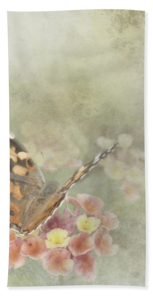Butterfly Hand Towel featuring the photograph Ready For Flight by David and Carol Kelly