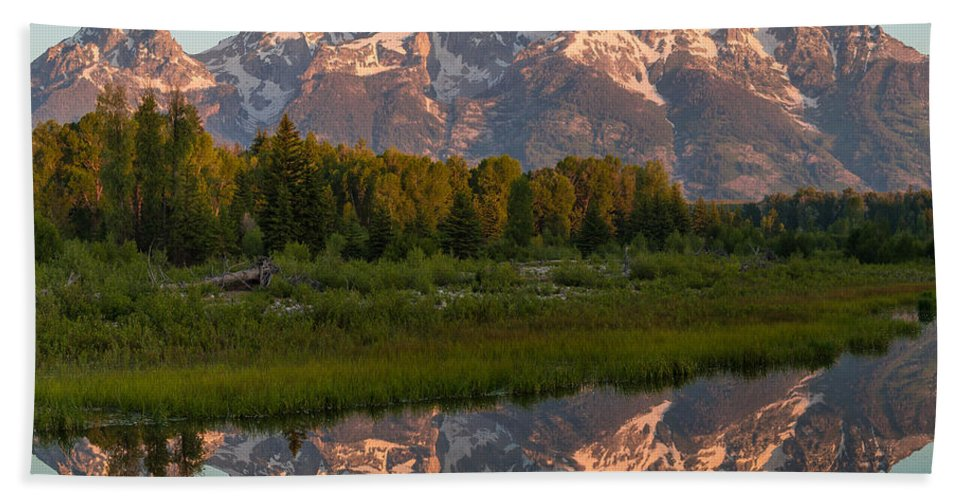 Grand Teton Bath Sheet featuring the photograph Ready For My Closeup by Kristopher Schoenleber