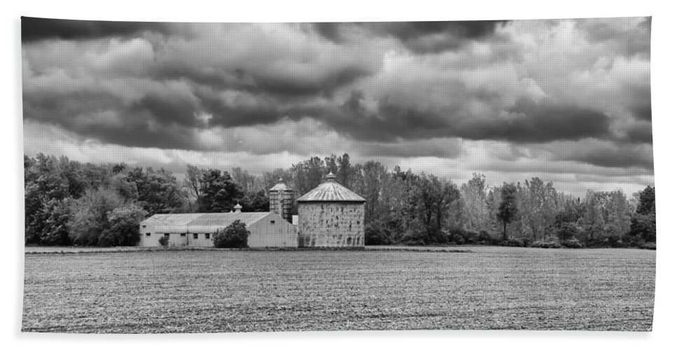 Barn Bath Sheet featuring the photograph Ready For Planting 2143b by Guy Whiteley