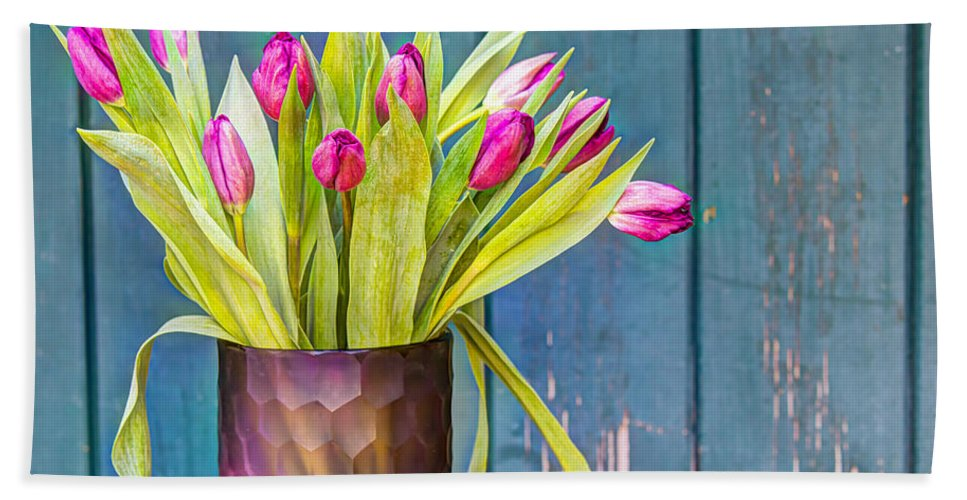 Tulip Hand Towel featuring the photograph Ready For Spring by Heidi Smith