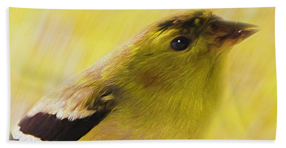 Goldfinch Bath Sheet featuring the photograph Ready For Spring by Shannon Story