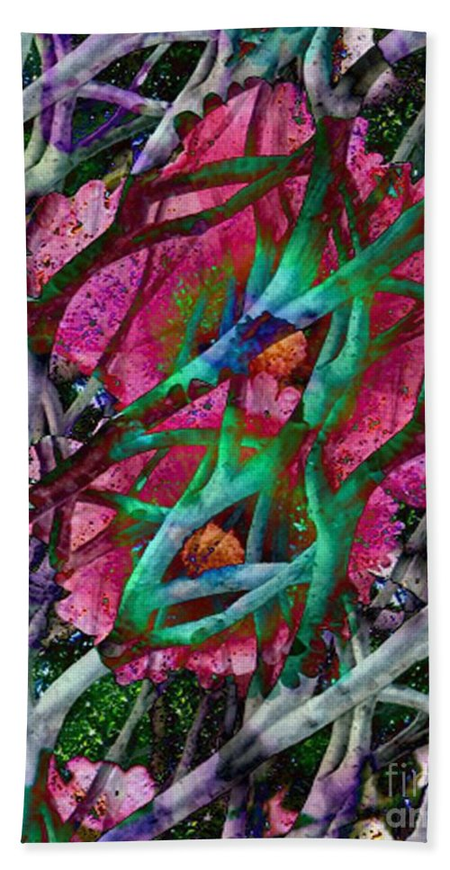 Abstract Hand Towel featuring the digital art Rebirth by Yael VanGruber