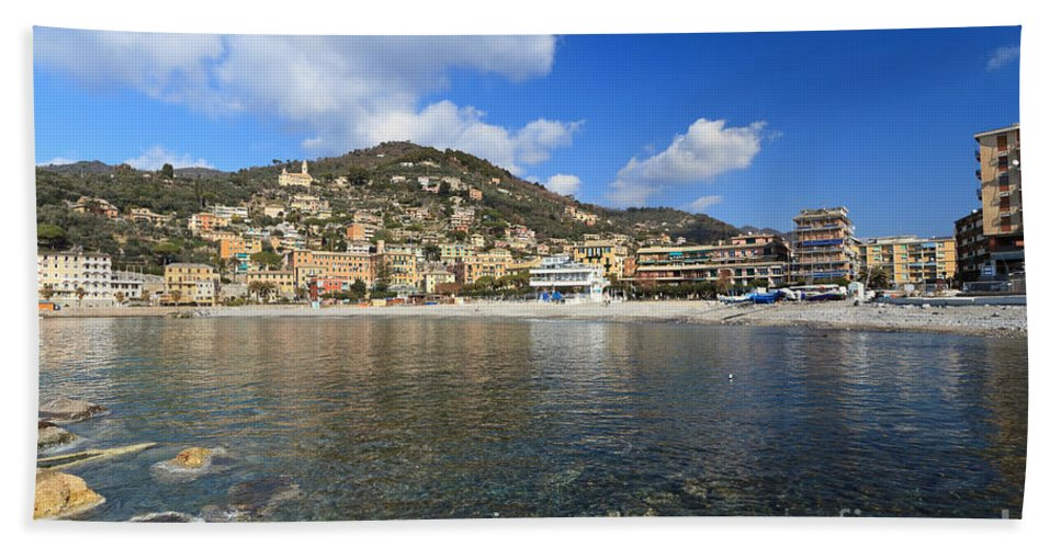 Architecture Hand Towel featuring the photograph Recco. Italy by Antonio Scarpi