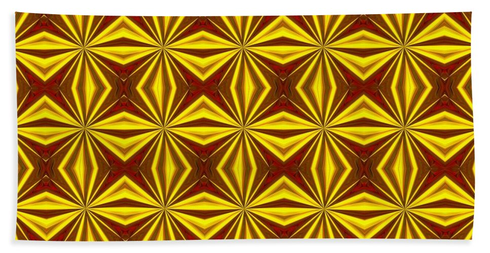 Christmas Bath Sheet featuring the digital art Red And Gold Christmas Abstract by Taiche Acrylic Art
