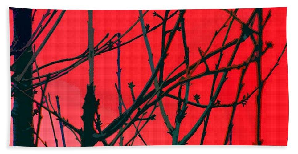 Red Bath Sheet featuring the digital art Red by Carol Lynch