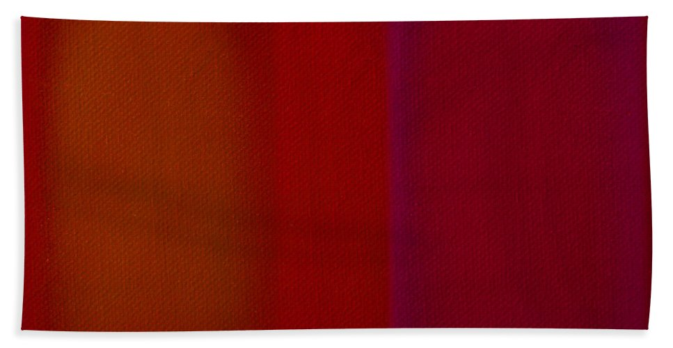 Rothko Hand Towel featuring the painting Red by Charles Stuart