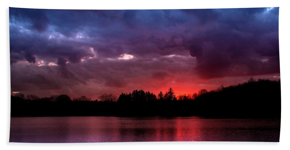 Dramatic Hand Towel featuring the photograph Red Dawn by Rob Blair