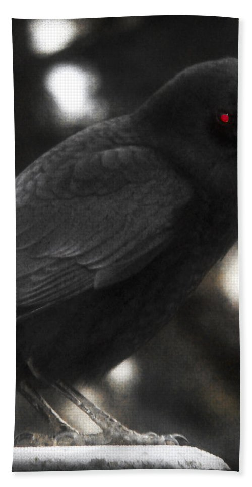 Red Eye Bath Sheet featuring the photograph Red Eye by Gothicrow Images