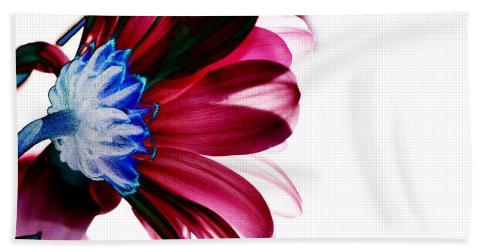 Red Bath Sheet featuring the digital art Red Flower by Carol Lynch