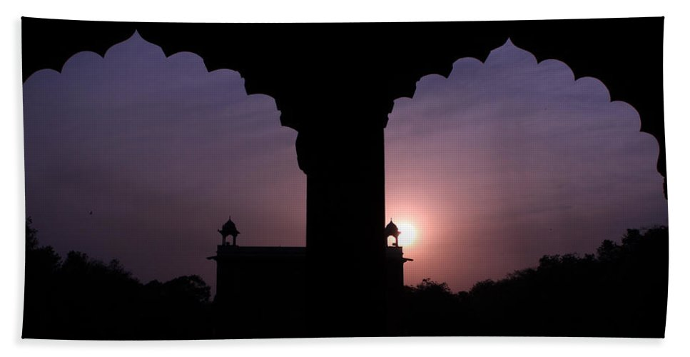 India Hand Towel featuring the photograph Red Fort Arches - New Delhi - India by Aidan Moran