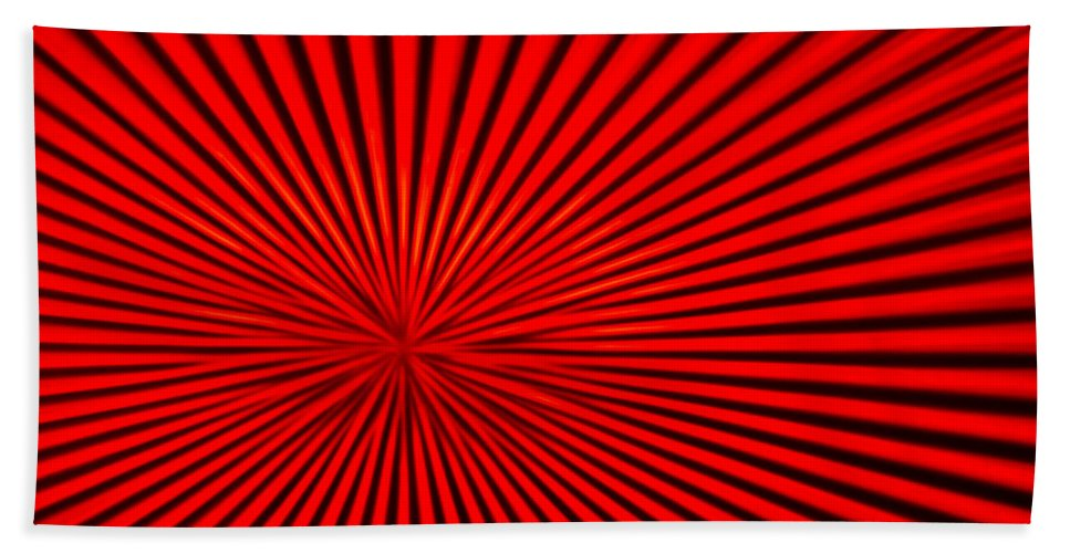 Vortex Hand Towel featuring the photograph Red Glass Abstract 3 by John Brueske