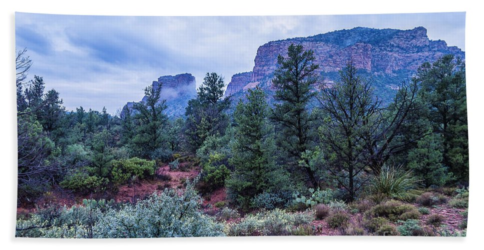Sedona Bath Sheet featuring the photograph Red Hills by Larry White