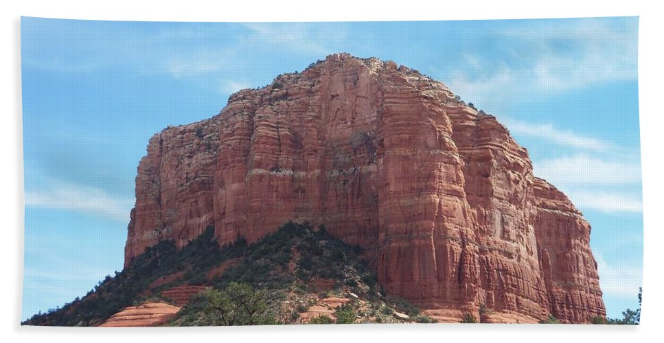 Arizona Bath Sheet featuring the photograph Red Mountain by Two Bridges North