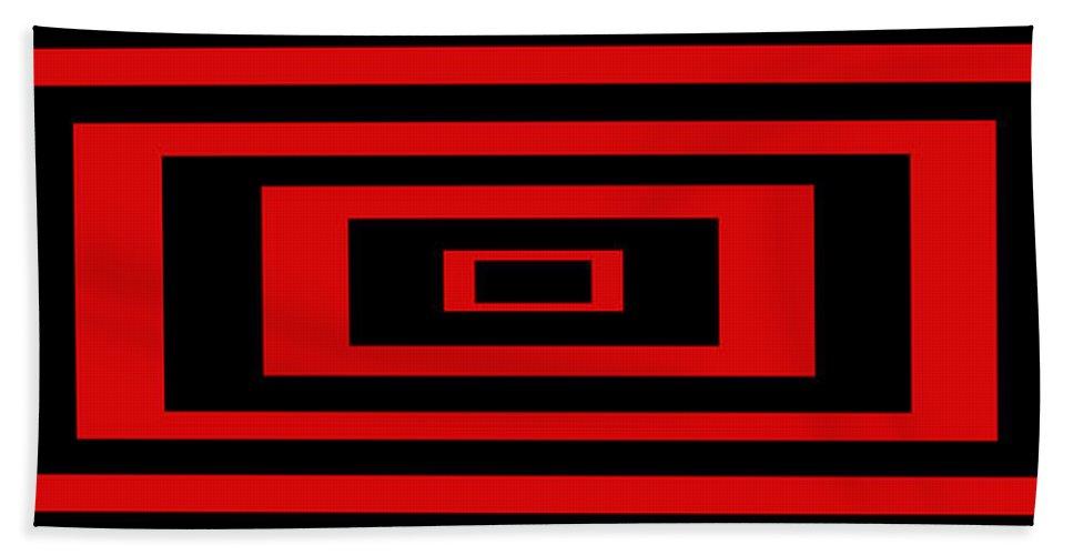 Pop Art Hand Towel featuring the digital art Red Rectangle by Mike McGlothlen