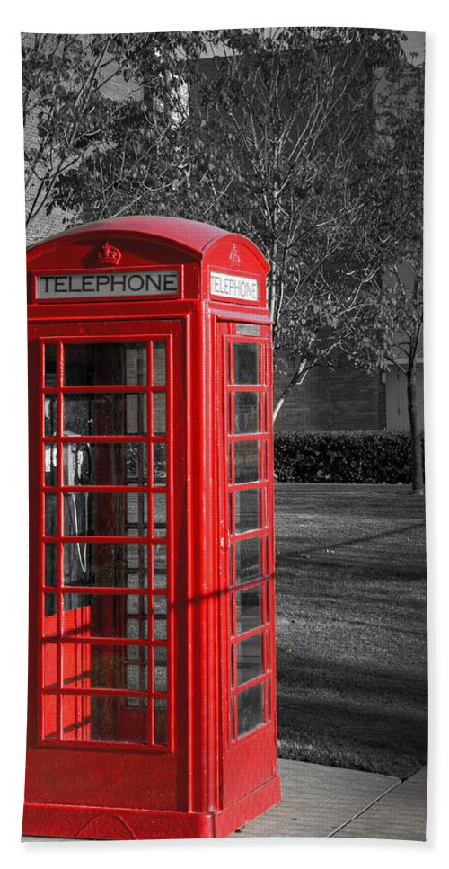 Phone Hand Towel featuring the photograph Red by Ricky Barnard