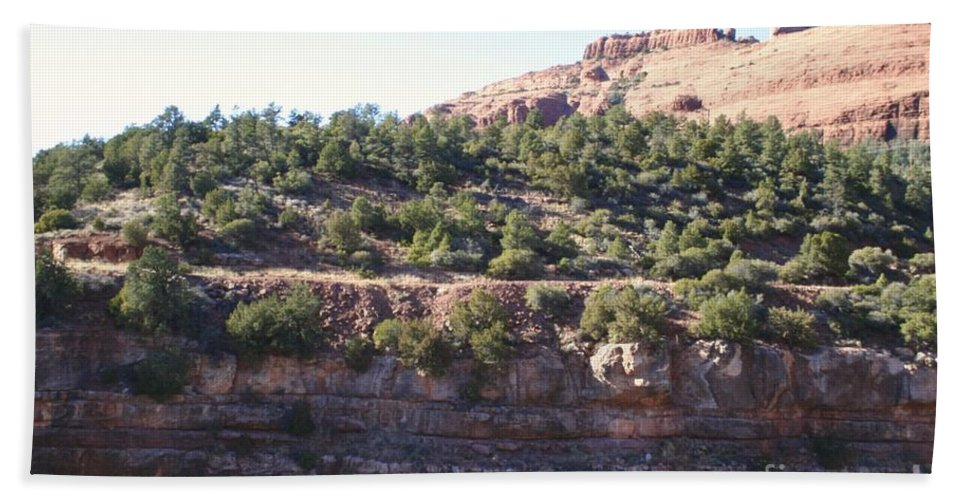 Arizona Hand Towel featuring the photograph Red Rock Canyon In Arizona by Christy Gendalia