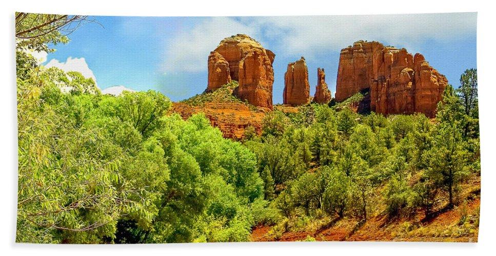 Arizona Hand Towel featuring the photograph Red Rock State Park Sedona Arizona by Bob and Nadine Johnston