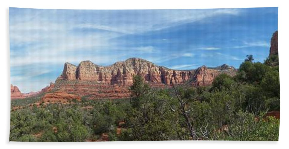 Arizona Bath Sheet featuring the photograph Red Rock Views by Two Bridges North