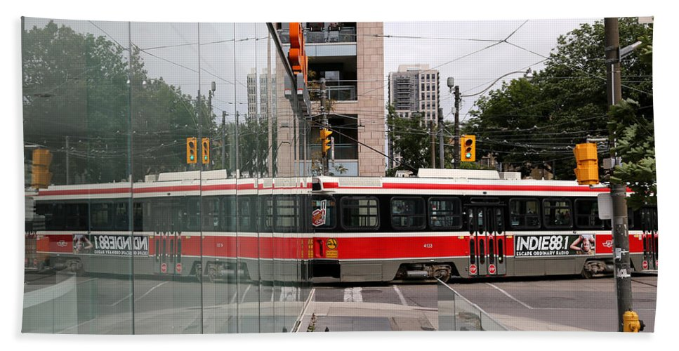 Streetcar Hand Towel featuring the photograph Red Rocket 37 by Andrew Fare