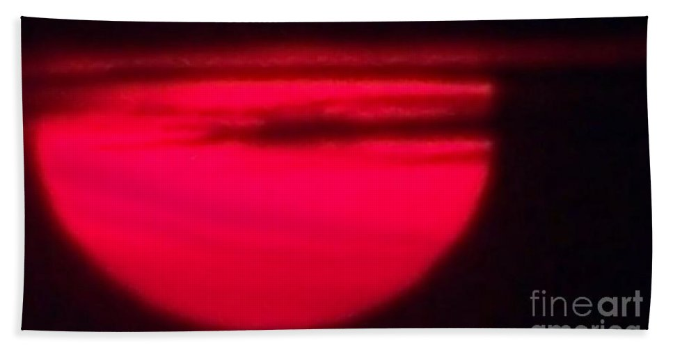 Sunset Hand Towel featuring the photograph Red Sky At Night by Eric Schiabor