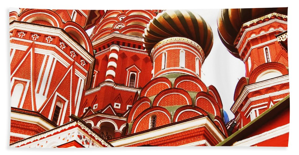 Architecture Hand Towel featuring the photograph Red by Svetlana Sewell