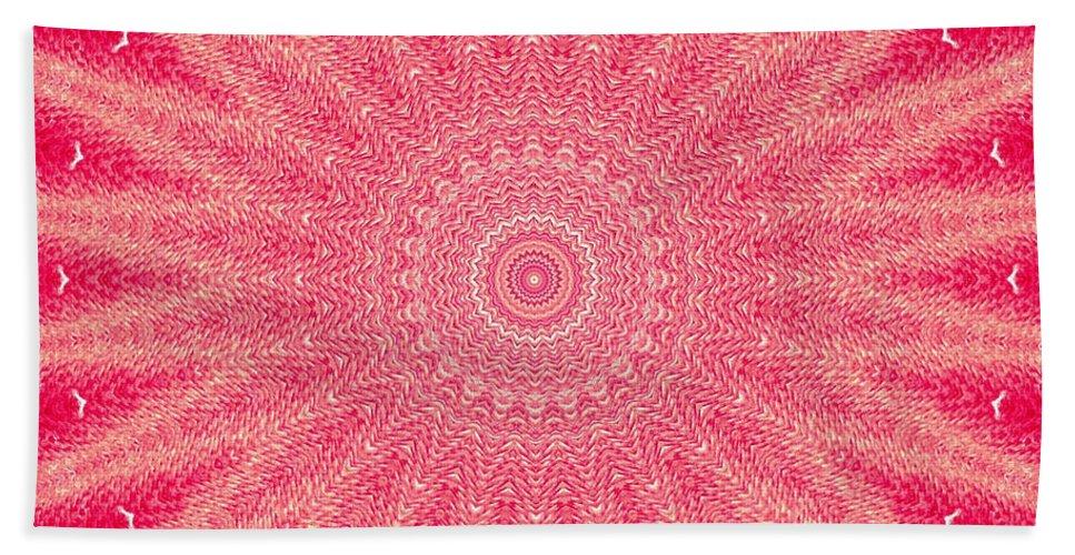 Digital Art Bath Sheet featuring the painting Red  by Tatjana Popovska