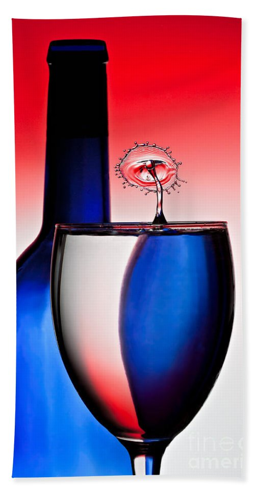 Water Bath Sheet featuring the photograph Red White And Blue Reflections And Refractions by Susan Candelario