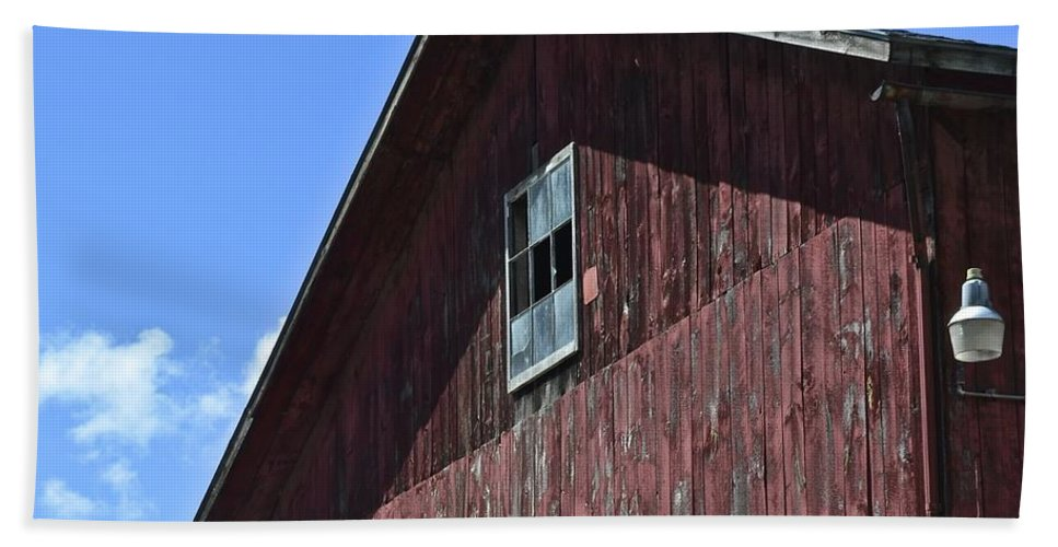 Red Bath Sheet featuring the photograph Red White And Blue by Frozen in Time Fine Art Photography