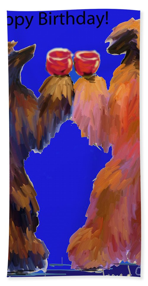 Ipad Finger Painting Hand Towel featuring the painting Red Wine by Terry Chacon