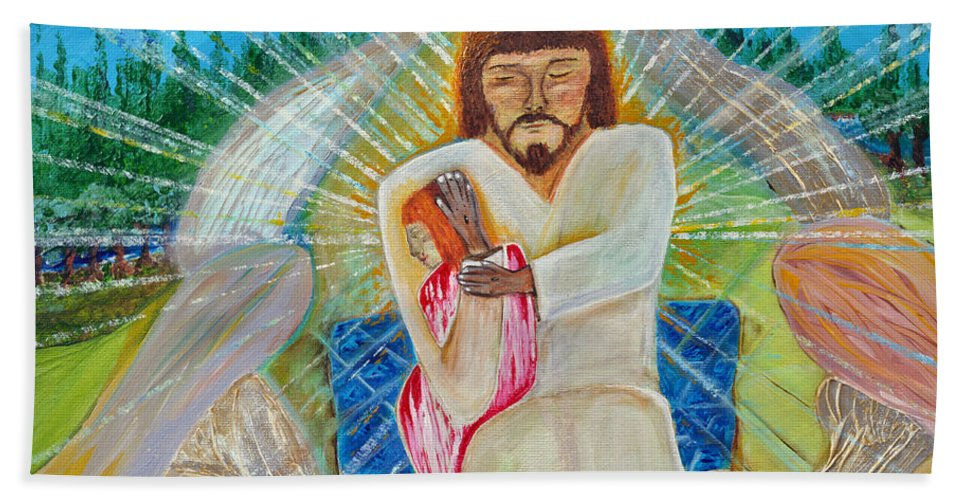 Art By Cassie Sears Hand Towel featuring the painting Redeemed by Cassie Sears