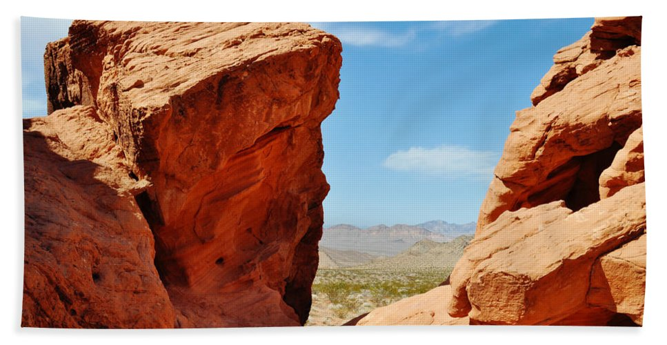 Redstone Canyon Hand Towel featuring the photograph Redstone Canyon by Kyle Hanson