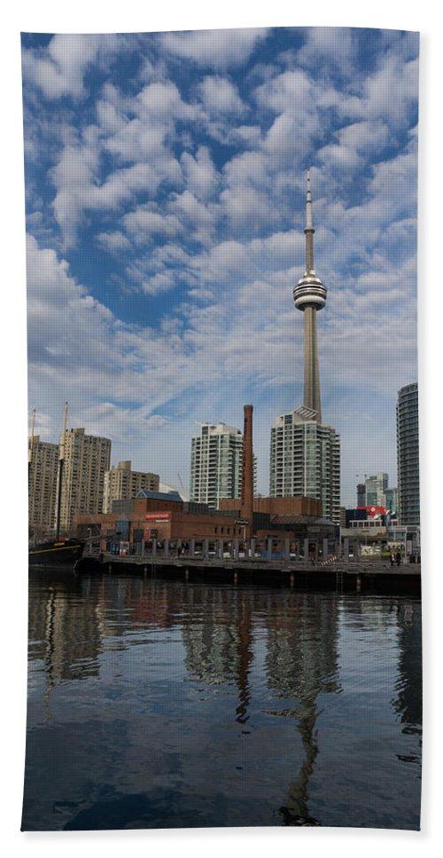 Toronto Bath Sheet featuring the photograph Reflecting On Toronto And Harbourfront by Georgia Mizuleva