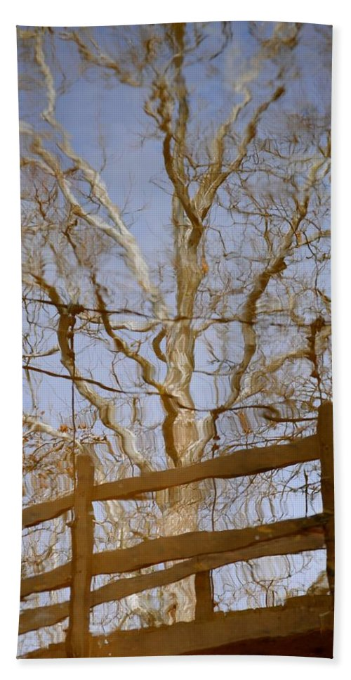 Reflection Hand Towel featuring the photograph Reflection by Frozen in Time Fine Art Photography