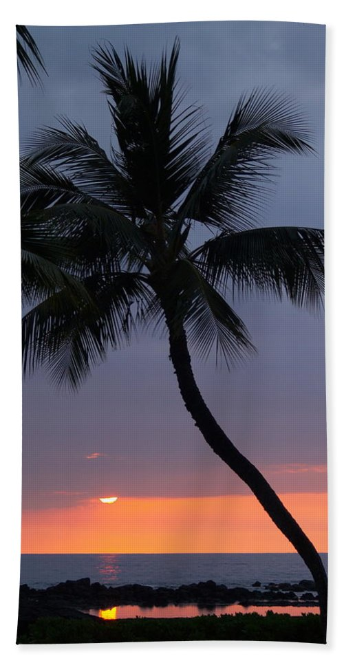 Sunset Hand Towel featuring the photograph Reflections by Athala Carole Bruckner