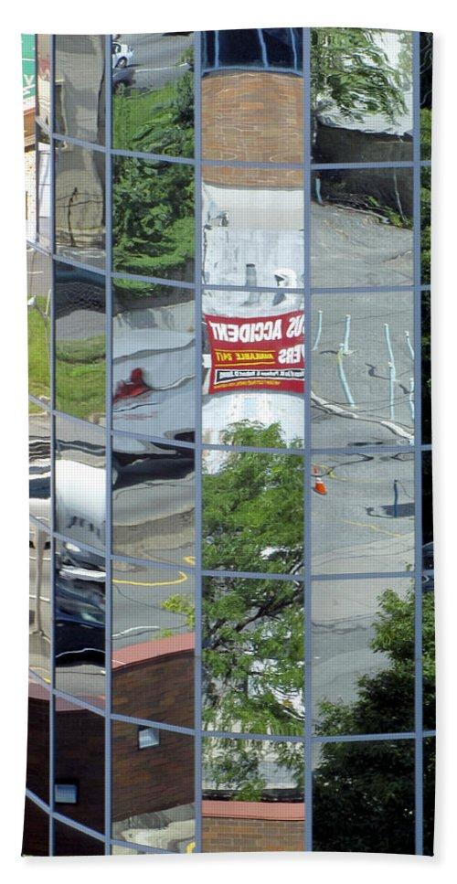 Architecture Bath Sheet featuring the photograph Reflections by Bob Slitzan