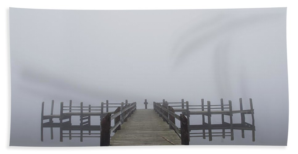 Fog Hand Towel featuring the photograph Reflections by Jonathan Steele