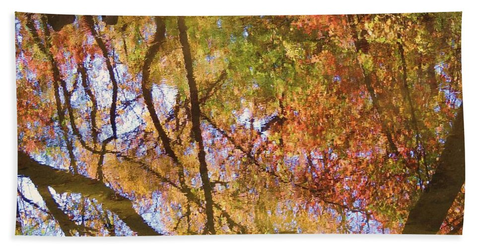 Fall Colors Hand Towel featuring the photograph Reflections Of A Colorful Fall 002 by Robert ONeil