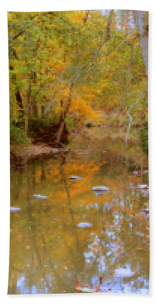 Reflections Bath Sheet featuring the photograph Reflections Of An Autumn Day by Kay Novy