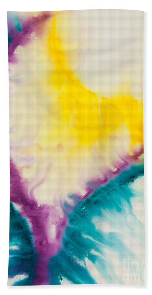Ilisa Millermoon Bath Sheet featuring the painting Reflections Of The Universe No. 2234 by Ilisa Millermoon