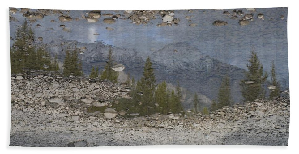 Reflection Bath Sheet featuring the photograph Reflections On A Mountain Stream by Brian Boyle