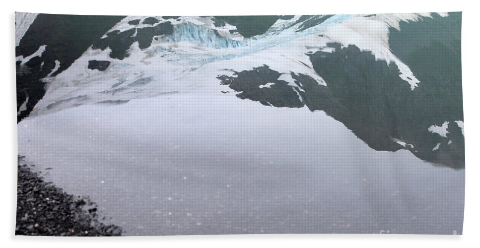 Glacier Hand Towel featuring the photograph Reflections by Stacey May