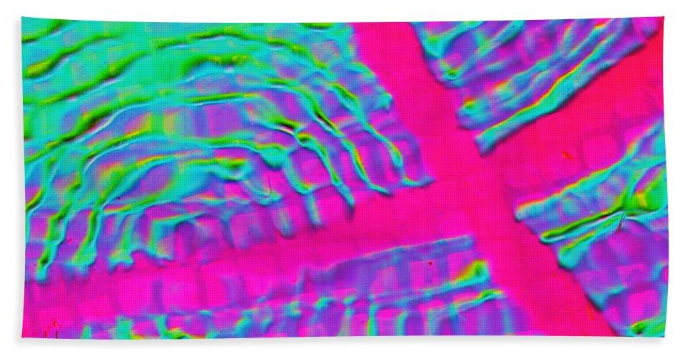 Modern Minimalist Image Bath Sheet featuring the digital art Reflections X One by Expressionistart studio Priscilla Batzell