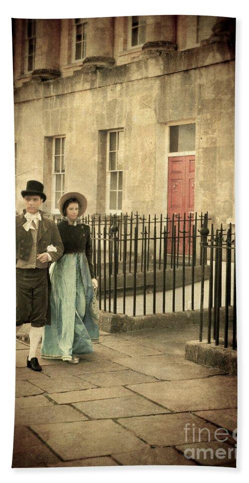 Couple Bath Sheet featuring the photograph Regency Couple by Jill Battaglia