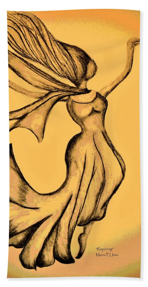 Rejoicing Hand Towel featuring the digital art Rejoicing by Maria Urso